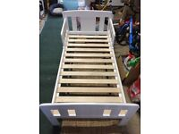 John Lewis Boris Toddler Bed, White (painted pine), good as new!