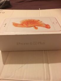 NEW APPLE IPHONE 6S PLUS ROSE GOLD 16 GB WITH BOX & ALL ACCESSORIES
