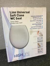 Linn universal soft close toilet seat