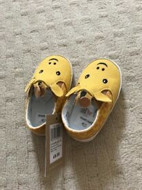 John Lewis baby canvas shoes 6-12 months