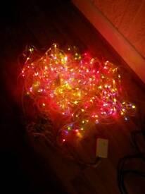 Colourful christmas tree lights