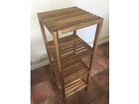 Wooden Ikea shelving unit - very good conditions (ideal for bathroom)