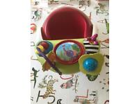 Mamas and Papas Bumboo Red with activity tray