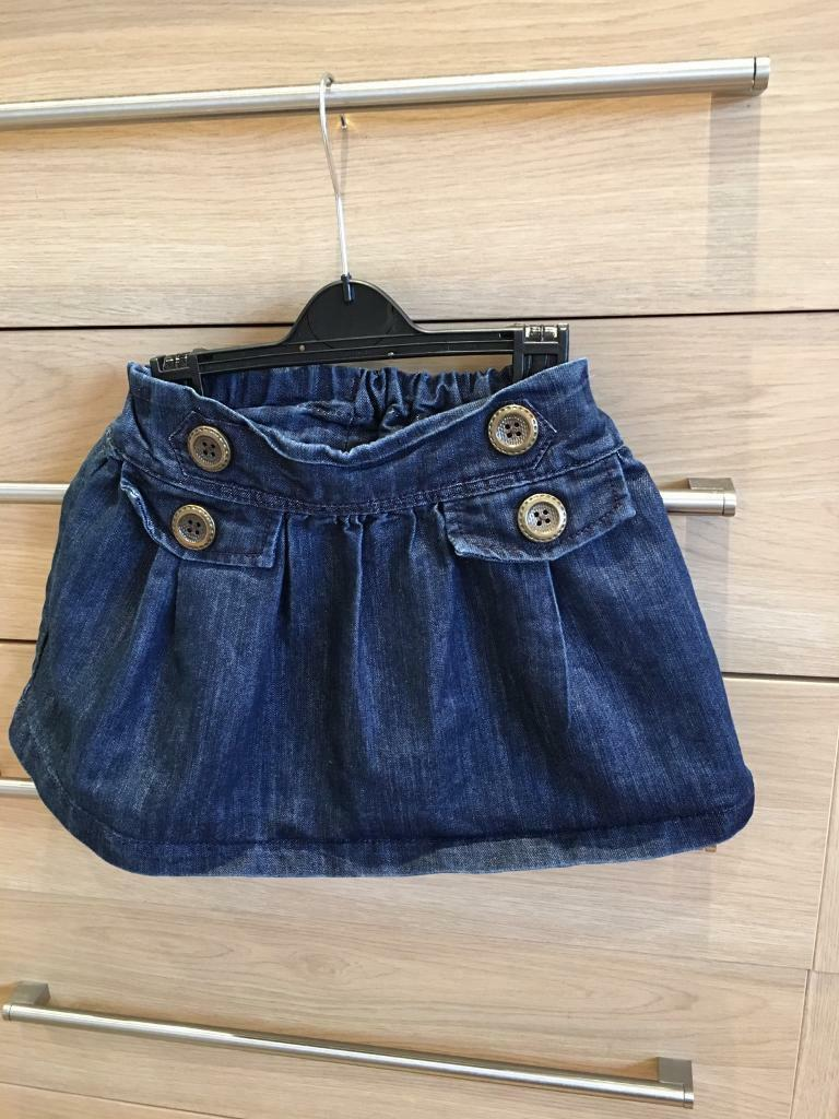 Next denim skirt age 3/4 years fab condition