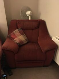 DFS 3 seater sofa and armchair - both recliners
