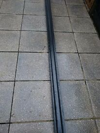 Black powder coated alluminuim guttering