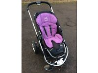 iCandy Travel System including cot, pram and stroller with Lascal Buggy Board.