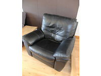 Leather Reclining Arm Chair --- Lazy Boy Style