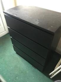 Black ikea draws