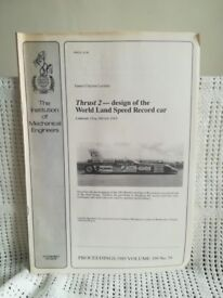 THRUST 2 ~ DESIGN OF THE WORLD LAND SPEED RECORD CAR ~ PAMPHLET