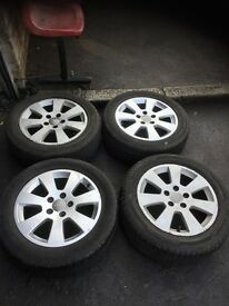 55 AUDI A3 ALLOY WHEEL FULL SET WITH TYRES 16 INC