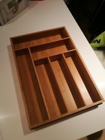 Wooden Cutlery Tray Divider. Never Been Used.