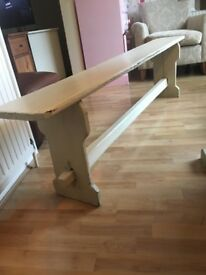 Solid Wood Shabby chic six foot wooden bench