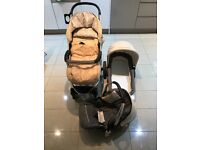 Hauck Malibu xl all in one travel system, Pram, car seat, cosy toes and carry cot, must go