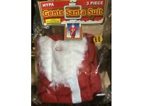 Men's santa clause fancy dress costume