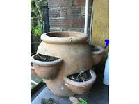 Terracotta herb pot for garden ceramic