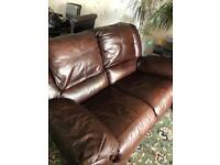 Full leather two seater recliner