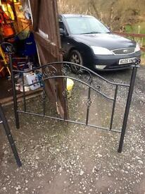 Metal bed frame ( double ) free if taken today (Sunday 19/2/17)