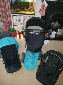 Oyster pram pushchair car seat colour pack