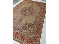 Superfine Quality Wool & silkinlaid Hand Woven Persian Moud Rug 310x302 cm Excellent condition