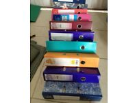 11 x 2 ring binders for Uni,School, College, work or home 40p each, all 11 for £4.00