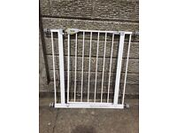 Pressure fit stair gate with extension
