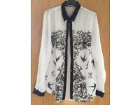 Ladies size 14 white blouse 'Louche'