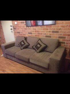Large 3 seater and large 2 seater lounge, brown, very comfortable North Richmond Hawkesbury Area Preview