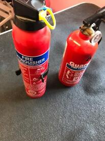 Unused fire extinguishers