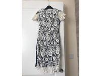 Club L dress navy white lace