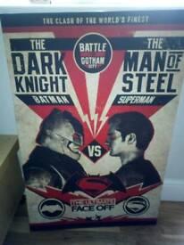 Batman vs superman canvas