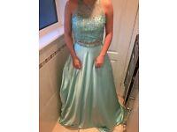 Elegant Two Piece Prom Dress