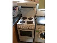 Electric freestanding cooker with overhead grill for sale
