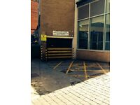 parking space secure and underground with remote control entry allocated space