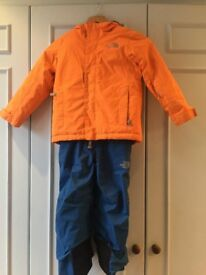 Kids Northface Ski Outfit, 4-6yrs
