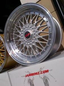 "$699 (Tax-In)- NEW 18""BBS RS reps (5x100/5x112)- Audi/ VW/ Mercedes/ Subaru BRZ/ Impreza/ Scion FRS/ Toyota Celica"