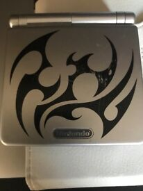 Game Boy Advance SP Tribal Limited Edition Silver Handheld