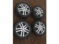 "Vw 16"" alloys, good tyres"