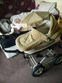 Vintage britax babycare pram and matching car seat