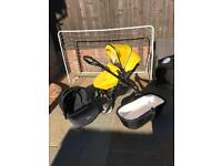 yellow silvercross wayfarer pram pushchair