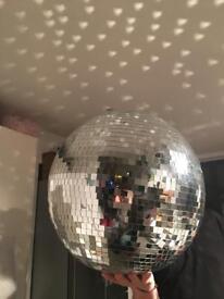 """Huge glitter ball 20"""" with revolving motor"""