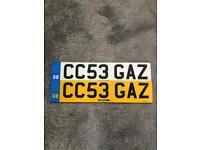 Personalised registration CC53 GAZ