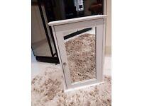 White Mirrored Batheoom Cabinet