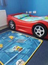 Car toddler bed & bedding