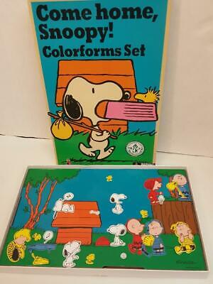 Come Home Snoopy! Colorforms Sticker Set Charlie Brown Reproduction of 1972 Set