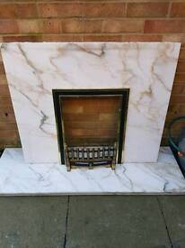 Marble surround fire place