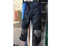 Winter motor bike jacket and trousers