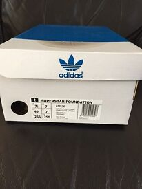 Adidas Superstar Foundation White Trainers size 7