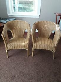 CHILDRENS WICKER CHAIRS - Bargain at £15 each