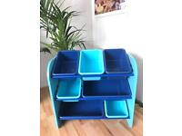 Toys storage unit- wooden and plastic